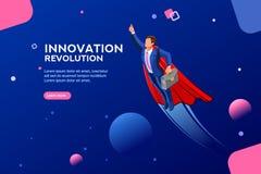 Start digitaal trasformationmalplaatje voor Website vector illustratie