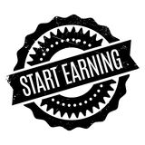 Start Earning rubber stamp Royalty Free Stock Photo