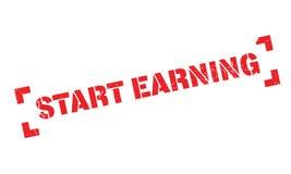 Start Earning rubber stamp Stock Images