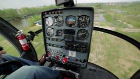 Start in een helikopter stock videobeelden