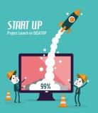 Start en Ontwikkelingsconcept Stock Afbeelding