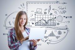 Start en technologieconcept royalty-vrije stock fotografie