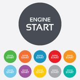 Start engine sign icon. Power button. Stock Photo