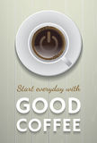 Start everyday with good coffee Stock Photography