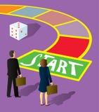 Start för affärsfolk royaltyfri illustrationer