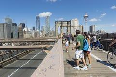 Start för Brooklyn bro Fotografering för Bildbyråer