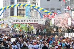 Start 2013 för mass för Vancouver solkörning med Boston Jersey Royaltyfria Foton