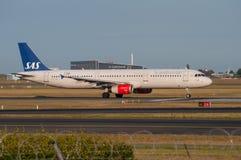 Start för SAS flygbuss A321 Royaltyfri Bild