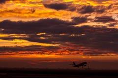 Start för Wizz luft A320 arkivfoto