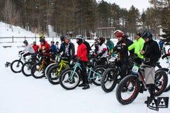 Start of a Fat Bike Race Stock Photo
