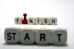 Start - Finish. On the start looking throw the finish Royalty Free Stock Images