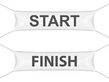 Start finish banner. On a white background Stock Photo