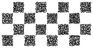 Start and finish checkered doodle Royalty Free Stock Photos