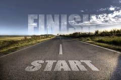 Start finish concept Stock Photo