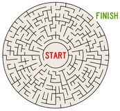Start and finish. Finding the way out of a complicated maze Royalty Free Stock Image