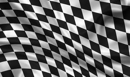 Start finish flag. 3d rendered stat finish flag Stock Photography