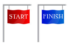 Start finish flags Royalty Free Stock Photography