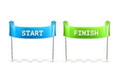 Start and Finish flags illustration Royalty Free Stock Photography