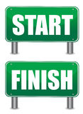 Start finish illustration banners Stock Photos