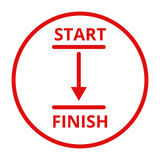 Start and finish line icon vector illustration