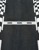 Start and Finish race line asphalt texture Grand Prix circuit Stock Image