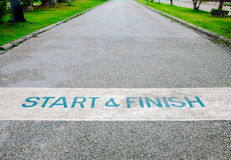 Start and Finish. Of the Road Stock Images