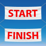 Start and finish Stock Images