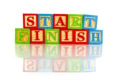 Start finish Royalty Free Stock Photography