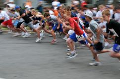 Start of the Firecracker 2 Mile Royalty Free Stock Photos