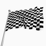 Start flag. 3d image of classic start flag on white background Stock Photography