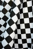 Start flag. Detailed pattern of black and white checkered flag at the start Royalty Free Stock Images