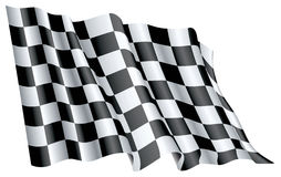 Start Flag. Fine 3d image of classic checked start flag Royalty Free Stock Photo