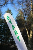 Start Flag at an Sports Event. Start feather flag at an Orienteering Event in Sandringham Royalty Free Stock Images