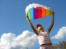 Start flying kite Royalty Free Stock Photo