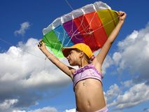 Start flying kite Royalty Free Stock Photography