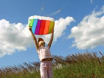 Start flying kite Stock Photo