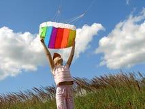 Start flying kite Stock Photo