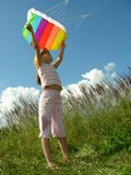 Start flying kite Royalty Free Stock Photography
