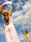 Start flying kite Stock Photography