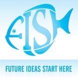 start för idéer för fiskframtid här Royaltyfri Bild