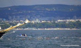 The start of Galata-Varna swimming marathon Stock Images