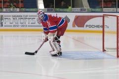 Start game. Goalkeeper Rastislav Stania Royalty Free Stock Photo