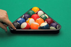 The start of the game pool billiard Royalty Free Stock Image