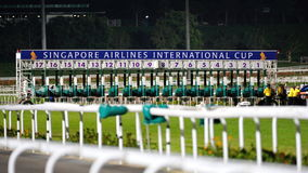 Start gate of Singapore Airlines International Cup 2013 Stock Image