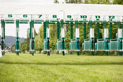 Start gates for horse races. Royalty Free Stock Photography
