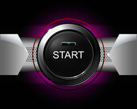 Start glossy button. Start button on violet background. vector illustration vector illustration