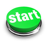 Start - Green Button Royalty Free Stock Image