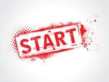Start grunge text. This is a Start grunge text Stock Photo