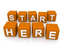 Start here sign Stock Images