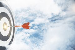 Start, het richten en doelconcept Stock Foto